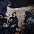 Zohre, 42, is a shiite muslim woman. She attended the course in crochet with her sisters and sisters in law. The course takes place in a small mosque of the country in which she lives, Nooshabad. Nooshabad, Iran. December 2014.