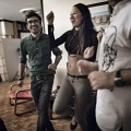 Dorsa, 23, while dancing with her friends at a party at home. In Iran there aren't discos. Dancing in public is prohibited by the Islamic Law. Tehran, Iran. October 2014.