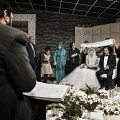 Rite of celebration of a marriage in which only the groom's family is religious and observant. Tehran, Iran. October 2014.