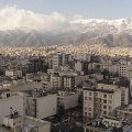 View of North of Tehran. Tehran is the capital of Iran. Located in the north of the country, on the southern slope of the Elburz Mountains, it has about 13 million inhabitants. It is the most populous city in Western Asia. Tehran, Iran. February 2019.