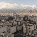 View of North of Tehran. Tehran is the capital of Iran. Located in the north of the country, on the southern slope of the Elburz Mountains, it has about 13 million inhabitants. It is the most populous city in Western Asia. Tehra, Iran. February 2019.