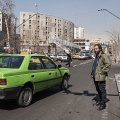 Rahi doesn't own a car. He uses taxis, metro or buses to get around the city. Rahi says that it is also from meeting people and the city itself that he takes inspiration to compose his music. Tehran, Iran. February 2019.